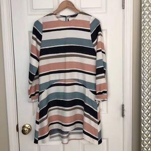 Zara multi stripe woven dress. Sz Small